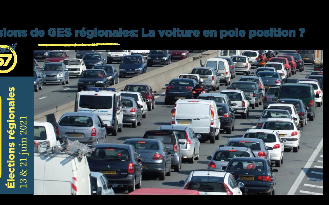 Emissions de GES régionales : la voiture en pole position ?